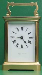 Mappin Webb Antique French Couaillet Freres 8 Day Corniche Carriage Clock