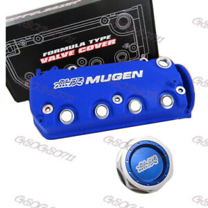 Blue Mugen Engine Valve Cover Oil Cap For Honda Civic D16y8 D16y7 Vtec Sohc