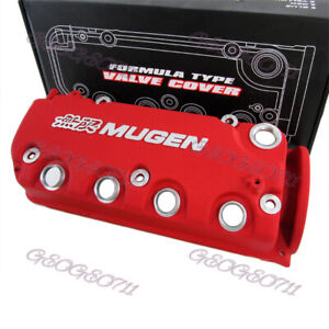 Red Mugen Style Type R Engine Valve Cover For Honda Civic D16y8 D16y7 Vtec Sohc