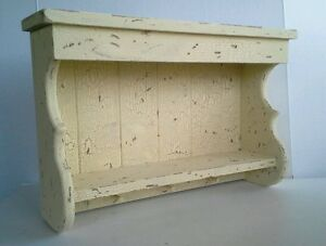 Primitive French Country Farmhouse Aged Wood Shabby Chic Shelf Entry Bath Kit