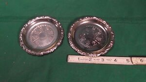 Vintage Silver Plated Coasters Made In Italy