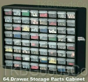 Garage Storage Parts Cabinet 64 Drawer Bins Nuts Bolts Workshop Office Organizer