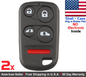 2x New Replacement Keyless Entry Remote Key Fob For Honda Oucg8d 440h a Shell