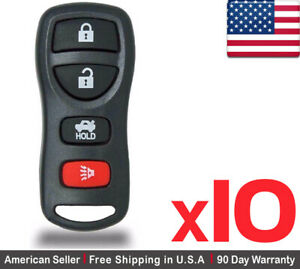 10x New Replacement Keyless Entry Remote Control Key Fob For Nissan Kbrastu15