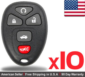 10x New Replacement Keyless Entry Remote Control Key Fob For Gm Chevy 22733524