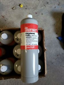 Turner Bernzomatic Gray Propane Cylinder Torch Tank Fuel Canister Case 12 Pack