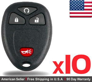 10x New Replacement Remote Control Key Fob For Chevy Buick Pontiac Kobgt04a