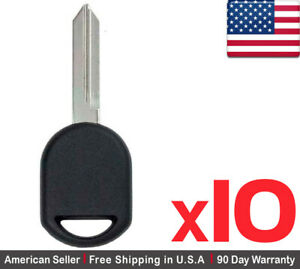 10 New Transponder Ignition Car Key For Ford Lincoln Mercury 80 Bit Chip H92 H84