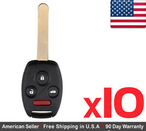 10x New Replacement Keyless Entry Remote Key Fob For Honda Civic Acura Csx