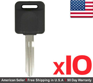 10x New Replacement Keyless Transponder Ignition Key For Nissan Id 46 Chip N104t