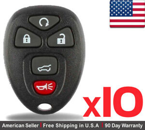 10 New Replacement Keyless Entry Remote Control Key Fob For Chevy Buick Ouc60270