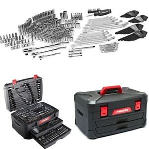 Husky 268 Pcs Mechanics Tool Set Car Boat Sockets Ratchets Hand Tool Kit Case