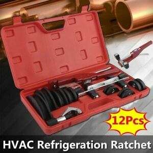 Us Hvac Refrigeration Ratchet Tubing Bender Aluminum Copper Pipe Bending Tool He