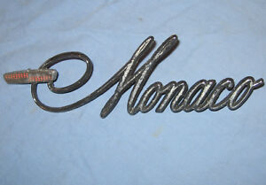 Dodge Monaco Emblem Very Good Condition 66 67 68 69 70 71 72 73 74 Chrysler 440