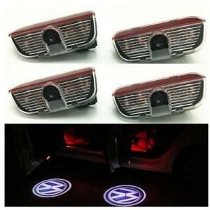 4pcs Pack Car Door Logo Welcome Light Projector Led Light For Volkswagen Vw