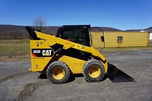 2018 Caterpillar 262d High Flow Skid Steer Wheel Loader Tire Machine Cat
