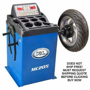 K L Supply Mc205 Motorcycle Automotive Wheel Tire Balancer Balancing Machine New
