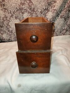 Singer Treadle Sewing Machine Cabinet Drawers Vintage Antique