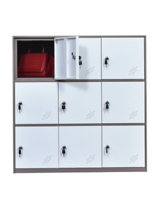 Office And School Locker Organizer Metal Storage Locker Cabinet For Workers And