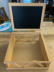 Tabletop Wooden Blackboard Display Chalk Board Sign Wedding Sales Market Stand