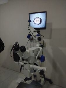 5 Step Dental Microscope With Accessories Led Illumination Floor Stand