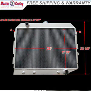 Cc374 3 Row Aluminum Radiator Fit 68 74 Dodge Plymouth Mopar Small Block 26 core