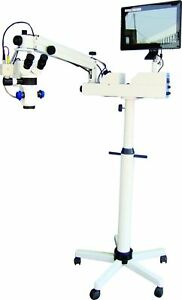 Dental Surgical Microscope 5 Step Magnification With Camera Attachment