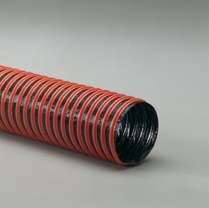 Air Duct Cleaning Hose 6 Id X 25 Flexaust Fsp 2 Coated Fabric Hose