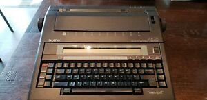 Brother Ax 28 Electronic Portable Typewriter Word Processor Cleaned Tested