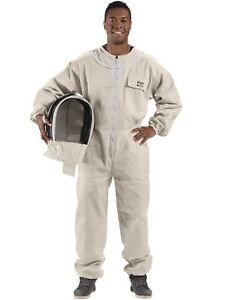 Bees Co U74 Natural Cotton Beekeeper Suit With Fencing Veil small