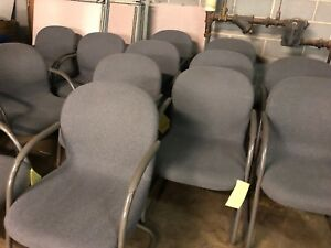 Lot Of 4 Guest Side Chair By Herman Miller Office Furniture In Gray Fabric