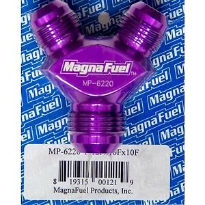 Magnafuel Mp 6220 Y Block One 12an Male Inlet Two 10an Male Outlets Purple