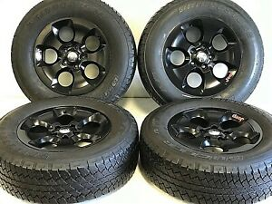 18 Jeep Wrangler Rubicon Set 4 Satin Black Oem Factory Wheels Tire Offroad 9113