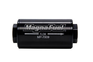 Magnafuel Mp 7009 Fuel Filter In line 74 Micron 10an Female O ring In out Black