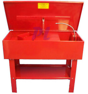 40 Gallon Parts Washer Cleaner W Electric Solvent Pump Shelf Tank