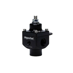 Magnafuel Mp 9833 Fuel Pressure 4 12psi 10an Inlet Two 8an Outs 1 8in Npt Black