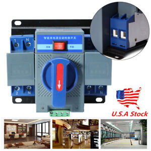 150 137 118mm 63a 2p 50hz 60hz Dual Power Automatic Transfer Switch manual