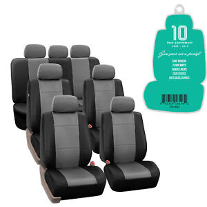 3 Row 7 Seats Suv Seat Covers Full Set With Free Air Freshener