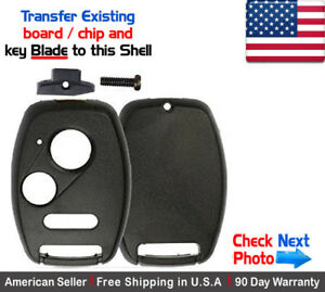1x New Remote Key Shell Repair Kit For Honda No Locksmith Needed Do It Yourself