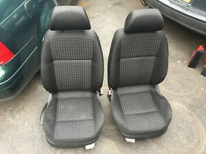 Volkswagen Vw Jetta Mkiv Mk4 Black Cloth Seats