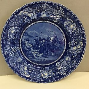 Antique Staffordshire Plate Battle Of Bunker Hill 10