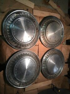 Vintage 1960 60 Pontiac Bonneville Star Chief Hubcaps Wheel Covers 14 Set Of 4