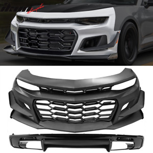 Fits 16 18 Chevy Camaro 1le Style Front Bumper Cover Factory Style Rear Diffuser