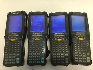 Lot Of 4 Symbol Motorola Mc9090 Series Handheld Barcode Scanners Lot 3