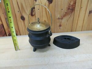 Antique Cast Iron Clothes Iron Modern Cast Iron Fire Starter Pot