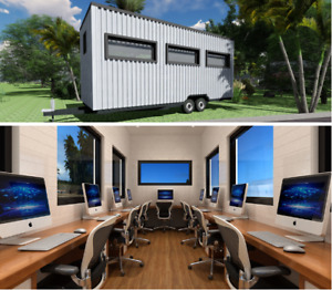 Tiny Home Office L19 6 X W7 2 Or L26 X W7 2 Professionally Built Trailer