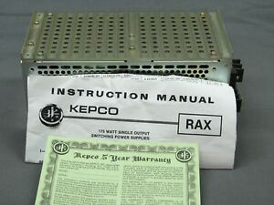 Kepco tdk Rax28 6 2k Power Supply 28v 6 2a 175w Brand New In Box With Docs