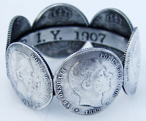 Silver Napkin Ring Made Out Of Silver Coins 1907