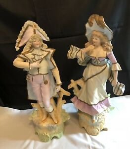 Antique Rudolstadt Germany Bisque Figurines Courting Pair 19