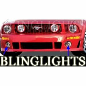 2005 2006 2007 2008 2009 Ford Mustang Roush Halo Bumper Foglamps Driving Lights